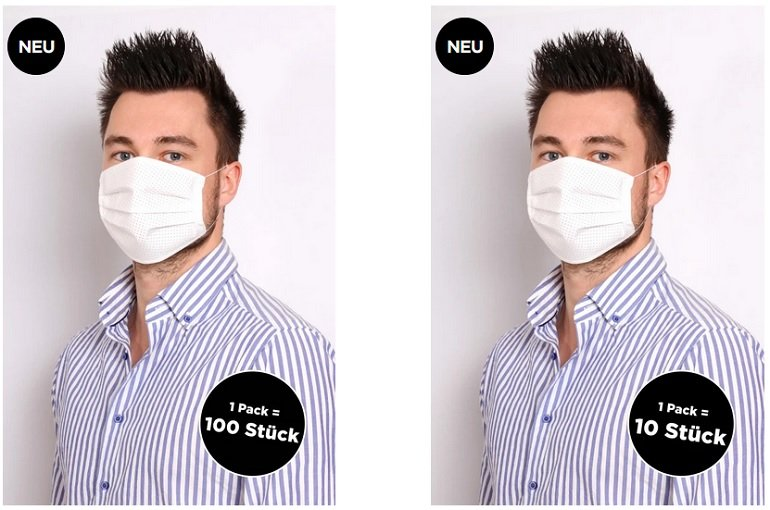 Eterna Behelfs-Mundschutzmasken