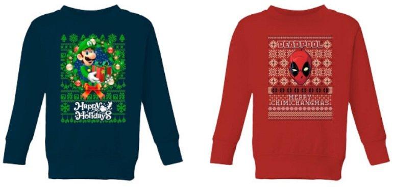 2er Set Kinder Weihnachtspullover 2