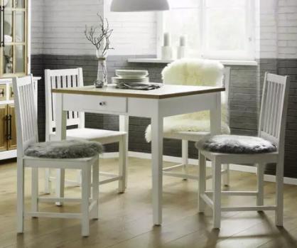 """Bessagi Home Esstisch """"Camden"""" in Weiß für 75,25€ inkl. Versand (statt 105€)"""