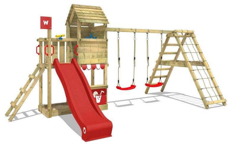 Wickey Smart Port Spielturm mit Schaukel, Rutsche & Plane für 619,95€ (statt 670€)