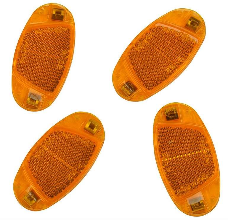 Fischer Fahrrad-Speichenreflektoren-Set, orange (4 Stück) für 1,92€ (statt 6€) - Prime!