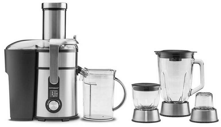 Gastroback 40152 - 4in1 Systen (Entsafter, Standmixer, Schnellzerkleinerer, Kaffemühle) für 125,83€ (statt 156€)