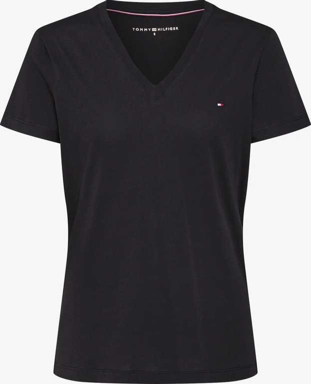 """Tommy Hilfiger Shirt """"Heritage V-Neck Tee' in schwarz für 27,92€ inkl. Versand (statt 40€)"""