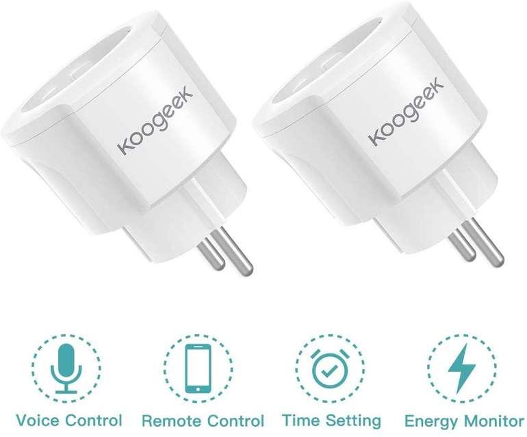 2er oder 4er Pack Koogeek Smart Plug WiFi Steckdosen (Alexa & Google komp.) ab 15,99€