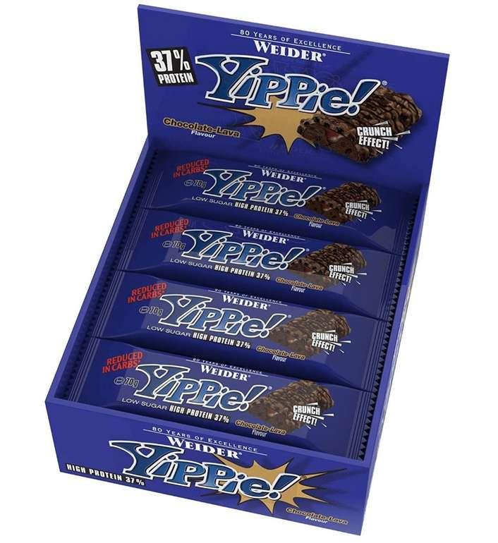 12er Pack Yippie! Bar Chocolate Lava oder Brownie Vanille für 17,90€ inkl. Versand (statt 29€)