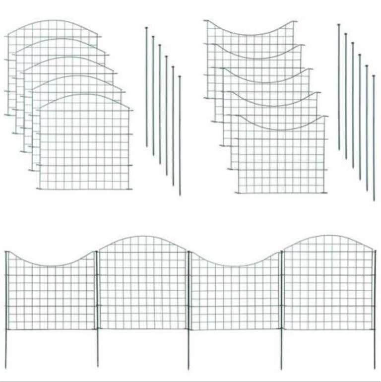Estexo Home & Garden Teichzaun Set bestehend aus 10 Elementen für 49,99€ (statt 80€)