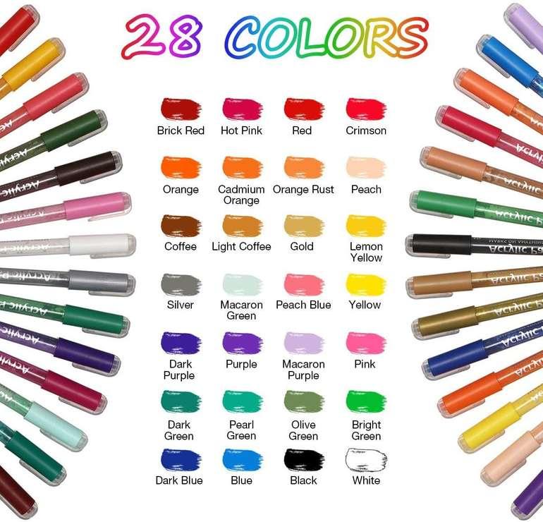Sawake wasserfeste Acrylstifte in 28 Farben für 13,73€ inkl. Prime Versand (statt 23€)
