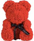 Geschenkidee zum Valentinstag: Teddybär aus künstlichen Rosen für 14,16€