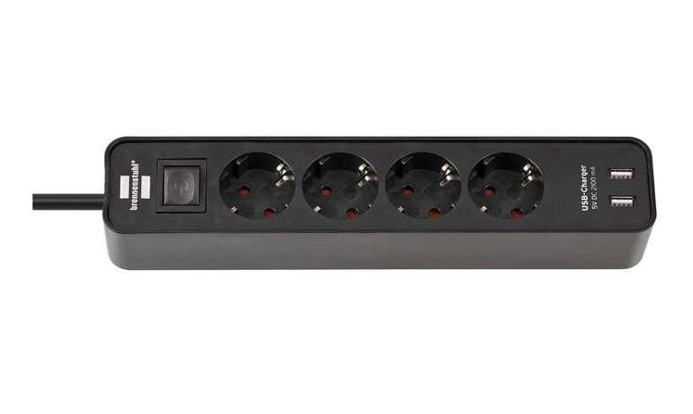 Brennenstuhl Ecolor Steckdosenleiste 4-fach mit 2 USB-Ladebuchsen für 13,03€ inkl. Versand (statt 17€)