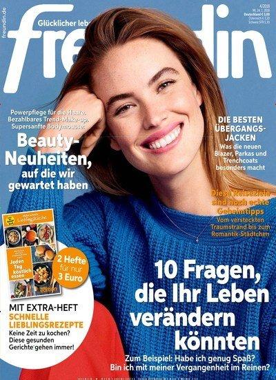 Freundin im Halbjahresabo (13 Ausgaben) für 39€ + 35€ Verrechnungsscheck