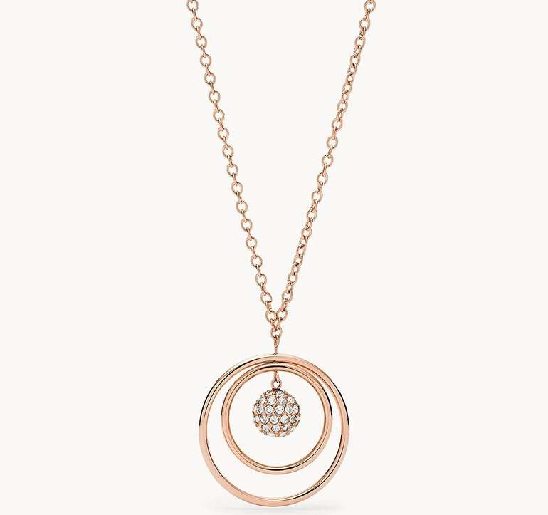 Fossil Damen Halskette Rose Gold-Tone Stainless Steel für 27,88€ inkl. Versand (statt 57€)