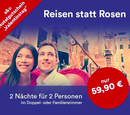 A&O Hotels: 2 Nächte für 2 Erwachsene + Bettwäsche & 2 Kinder für 59,90€