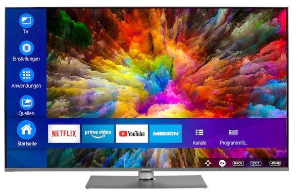 "Medion S16599 - 65"" UHD Smart-TV mit Triple Tuner (DVB-S2, -C, -T2 HD) für 669,95€ (statt 750€)"