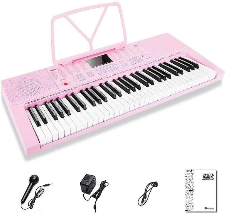 Vangoa elektronische Klaviertastatur (61 Mini Tasten, Mikrofon) für 41,77€ (statt 76€)