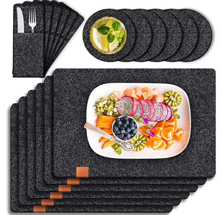 Tendak Filz Tischsets Platzset mit 6 Tischset (44 x 32cm) für 12,59€ inkl. Prime Versand (statt 20€)