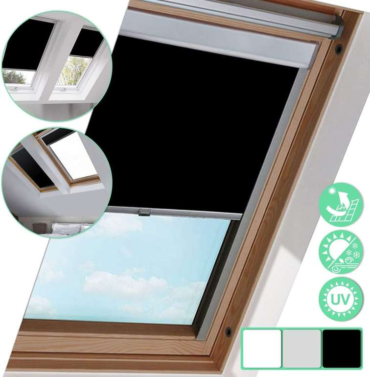 Wolketon Verdunkelungsrollos reduziert, z.B. F04 Rollo für Dachfenster für 23,79€ (statt 31€)