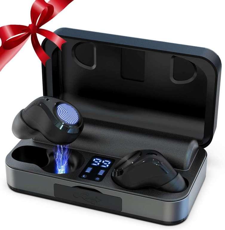 Am-re kabellose In-Ear-Kopfhörer (Bluetooth 5.0, IPX5) für 25,99€ inkl. Versand (statt 40€)