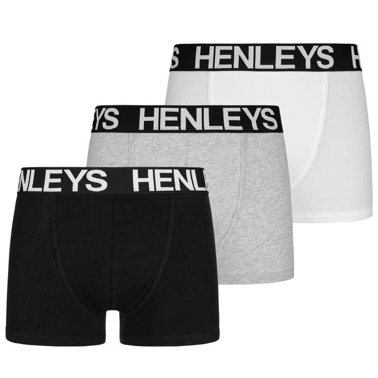 3er Pack Henleys Herren Boxershorts für 13,94€ inkl. Versand (statt 17€)