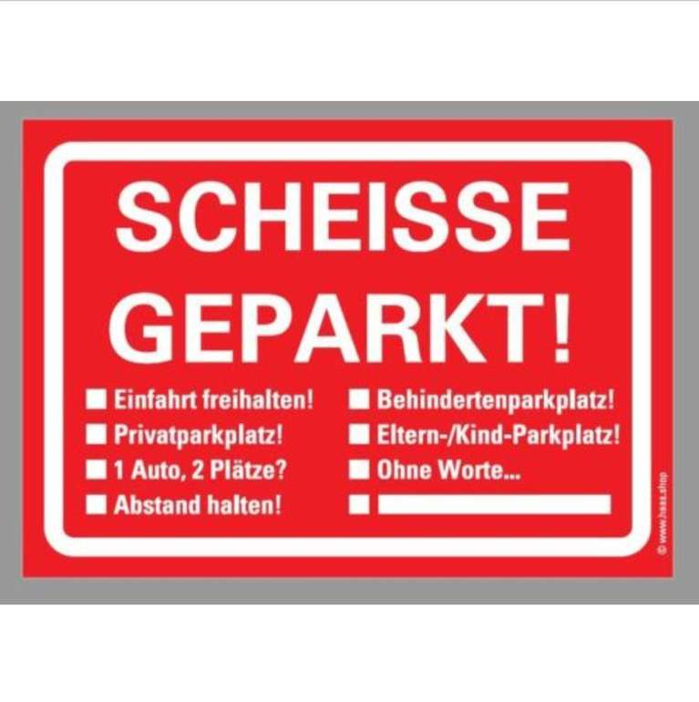 Echt Scheisse Geparkt - Notizblock mit 50 Blatt für 2,58€ inkl. Versand