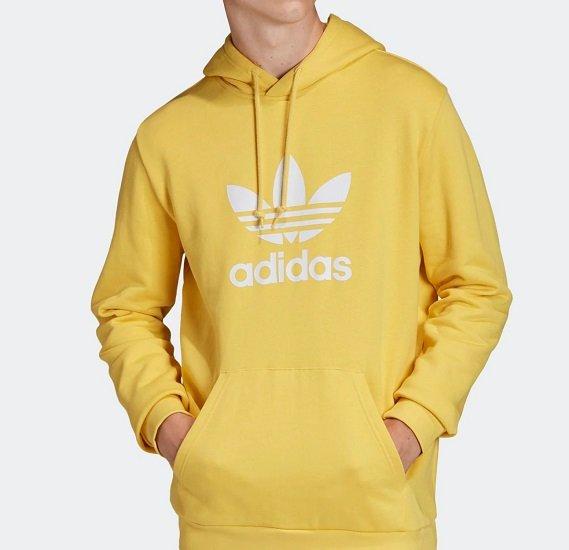 Adidas Originals Trefoil Herren Hoodie in Gelb ab 50,92€ inkl. Versand (statt 60€)