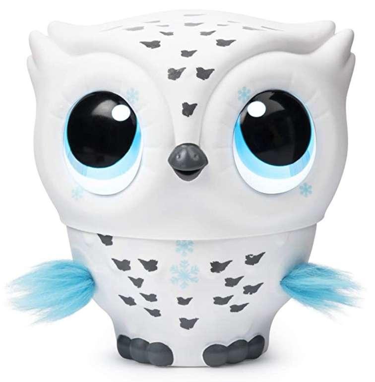 Owleez 6046148 - fliegende interaktive Spielzeug Babyeule mit Leuchteffekten und Sound für 24,19€
