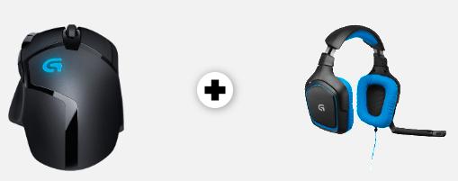 Logitech G430 Headset + G402 Hyperion Fury Maus für 66€ (Vergleich: 90€)
