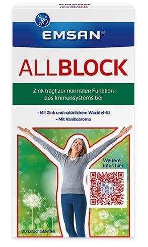 Probiermuster Emsan AllBlock Lutschtabletten (bei Allergie) kostenlos bestellen