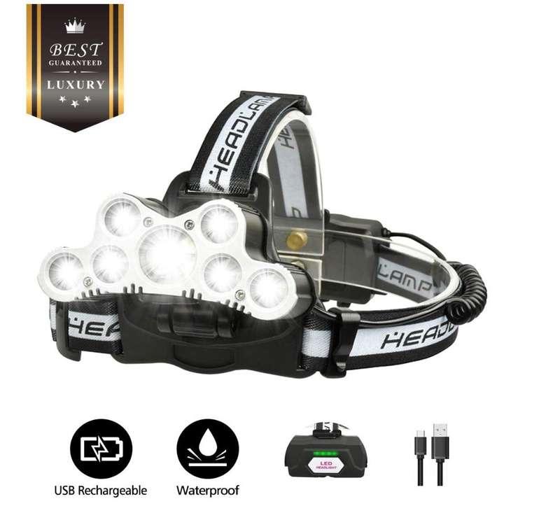 Outerdo Stirnlampe mit 10.000 Lumen & USB-Aufladung für 10,99€ inkl. Prime