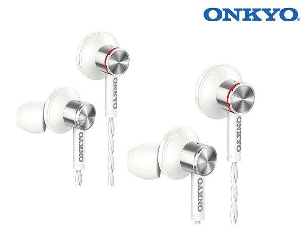 2er Pack Onkyo E600MW/00 In-Ear Kopfhörer mit Mikrofon für 35,90€ (statt 65€)
