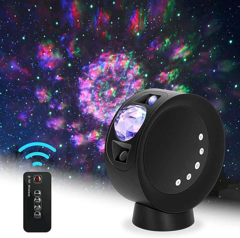 LooEooDoo LED-Sternprojektorlicht (Galaxienbeleuchtung, Fernbedienung, 2000-mAh-Batterie) für 14,99€ inkl. Prime Versand (statt 30€)