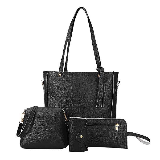 Moretime 4-teiliges Damen Handtaschen Set in verschiedenen Farben für je 7,20€ inkl. Versand