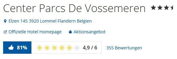 Belgien 2 Tage Center Parcs De Vossemeren 2