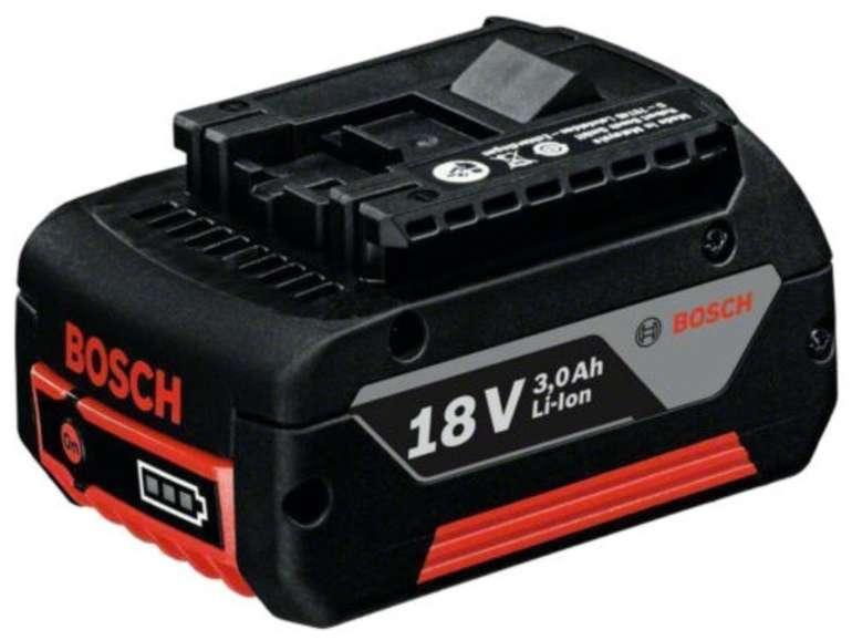Bosch Professional GBA 18 Volt / 3,0 Ah M-C Li-Ion Ersatz-Akku für 26,91€ inkl. Versand (statt 40€)