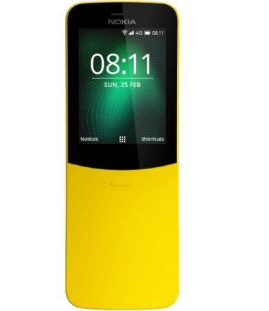 Nokia 8110 4G (4 GB Speicher, 512 MB RAM) in gelb oder schwarz für 49€ inkl. VSK