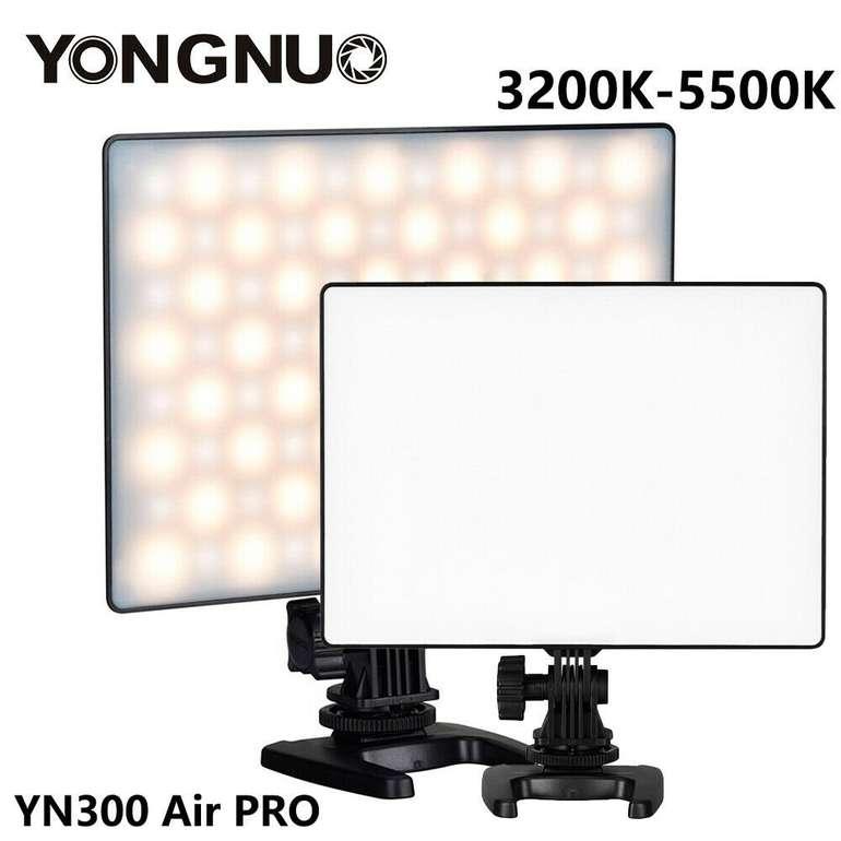 Yongnuo YN300 Air Pro LED Videoleuchte (3200-5500K) für 28,99€ (statt 32€)