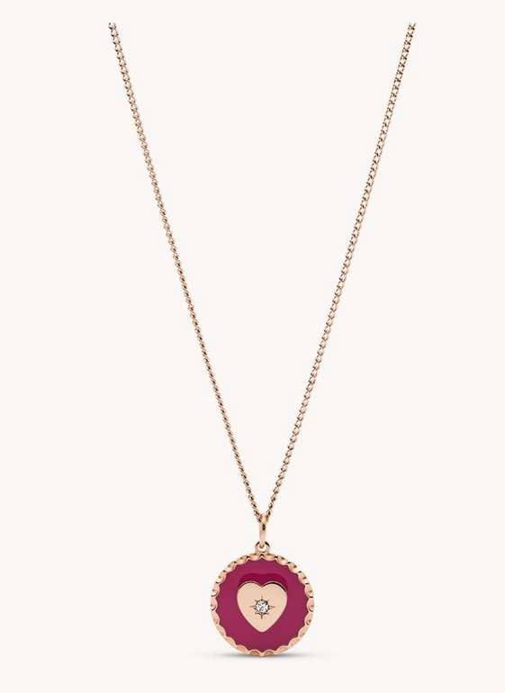 Fossil Damen Halskette Edelstahl Pink (JOF00684791) für 14,40€ inkl. Versand (statt 41€)