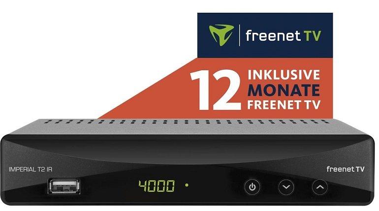 Imperial T2 IR DVB-T2 /-C  HD-Receiver + 12 Monate freenet TV für 49€ (statt 92€)