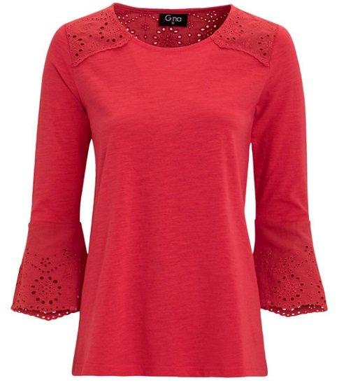 Bis zu 50% Extra-Rabatt im Sale bei Ernsting's Family - z.B.  Damen Shirt mit 3/4 Trompetenärmeln für 9,99€ (statt 13€)