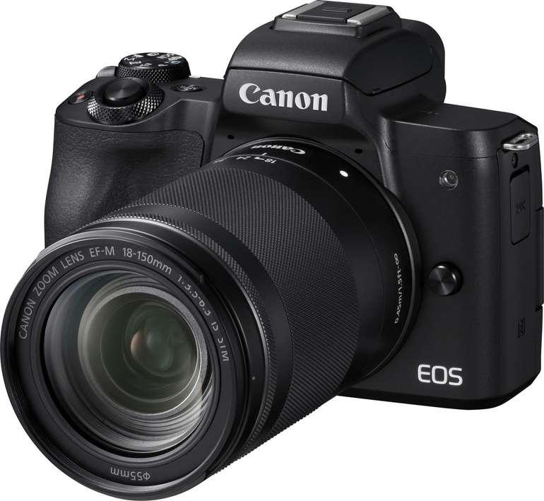 Canon EOS M50 Systemkamera + EF-M 18-150mm 3.5-6.3 IS STM Kit Objektiv für 679€ inkl. Versand (statt 797€)