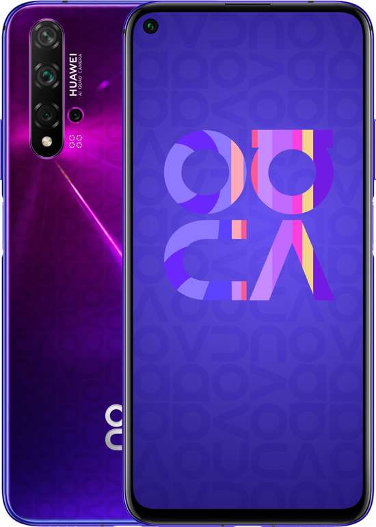 "Huawei Nova 5T - 6,26"" LTE Smartphone (FHD, 6GB RAM, 128 GB Speicher, Dual SIM) für 289€ inkl. Versand"