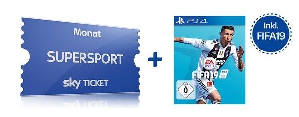 Sky Supersport Ticket bis Ende November + FIFA 19 (PS4) für einmalig 59,99€
