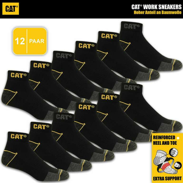 12 Paar Cat Caterpillar Sneaker in vers. Größen für 29,99€ inkl. Versand (statt 37€)