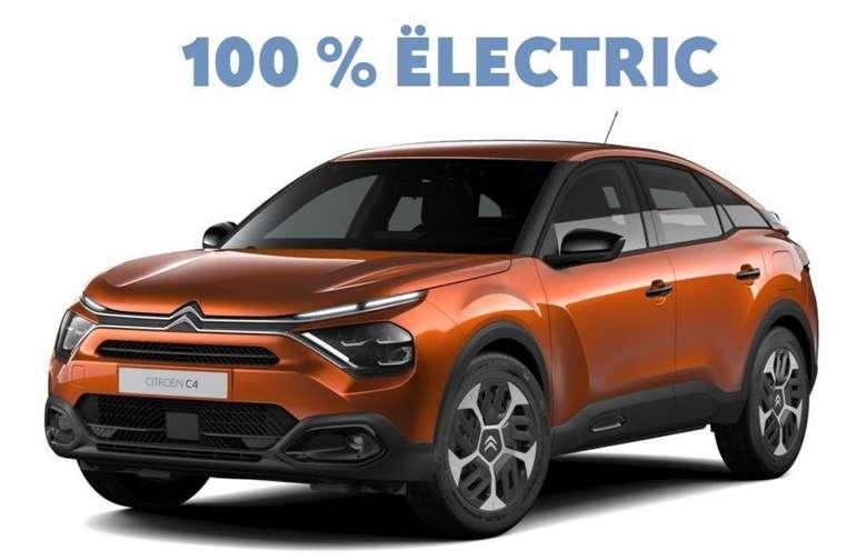 Gewerbeleasing: Citroen e-C4 Elektromotor mit 136 PS für 74,79€ netto mtl. (BAFA, LF: 0.24, Überführung: 950€)