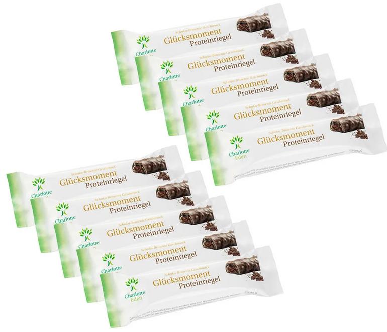 21 x Glücksmoment Proteinriegel Schoko-Brownie (21x45g) MHD-Ware für 9,60€