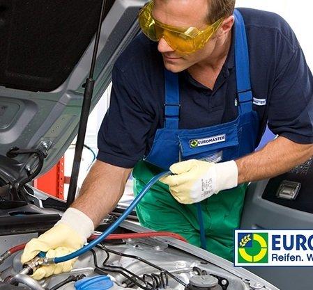 Euromaster: Klimaanlagen-Wartung inkl. Kältemittel & Desinfektion für 79,90€