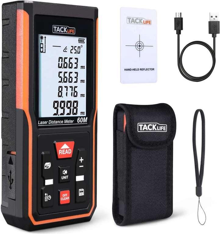 Tacklife Laser Entfernungsmesser mit Speicherfunktion (40 oder 60 m) ab 24,99€ inkl. Versand (statt 35€)