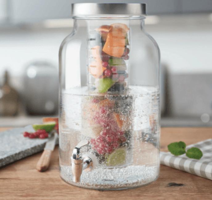 Leonardo Limito - 5 Liter Getränkespender aus Klarglas inkl. Zapfhahn für 18€