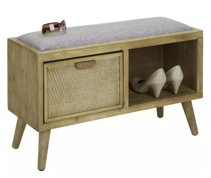 Zandiara Sitzbank aus Tannenholz in Naturfarbe für 61,88€ inkl. Versand (statt 85€)