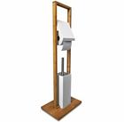 Sanwood WC-Garnitur aus Bambus-Holz & Edelstahl für 14,99€ (statt 25€)