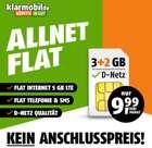 Klarmobil Allnet-Flats im Telekom-Netz - z.B. 5GB LTE für 9,99€ mtl. oder 12GB für 19,99€ mtl.